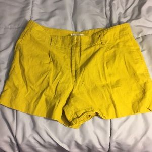 Yellow loft shorts